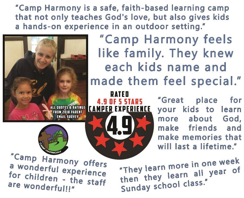 2019 Summer Camp — Camp Harmony Hooversville, PA 814 798 5885