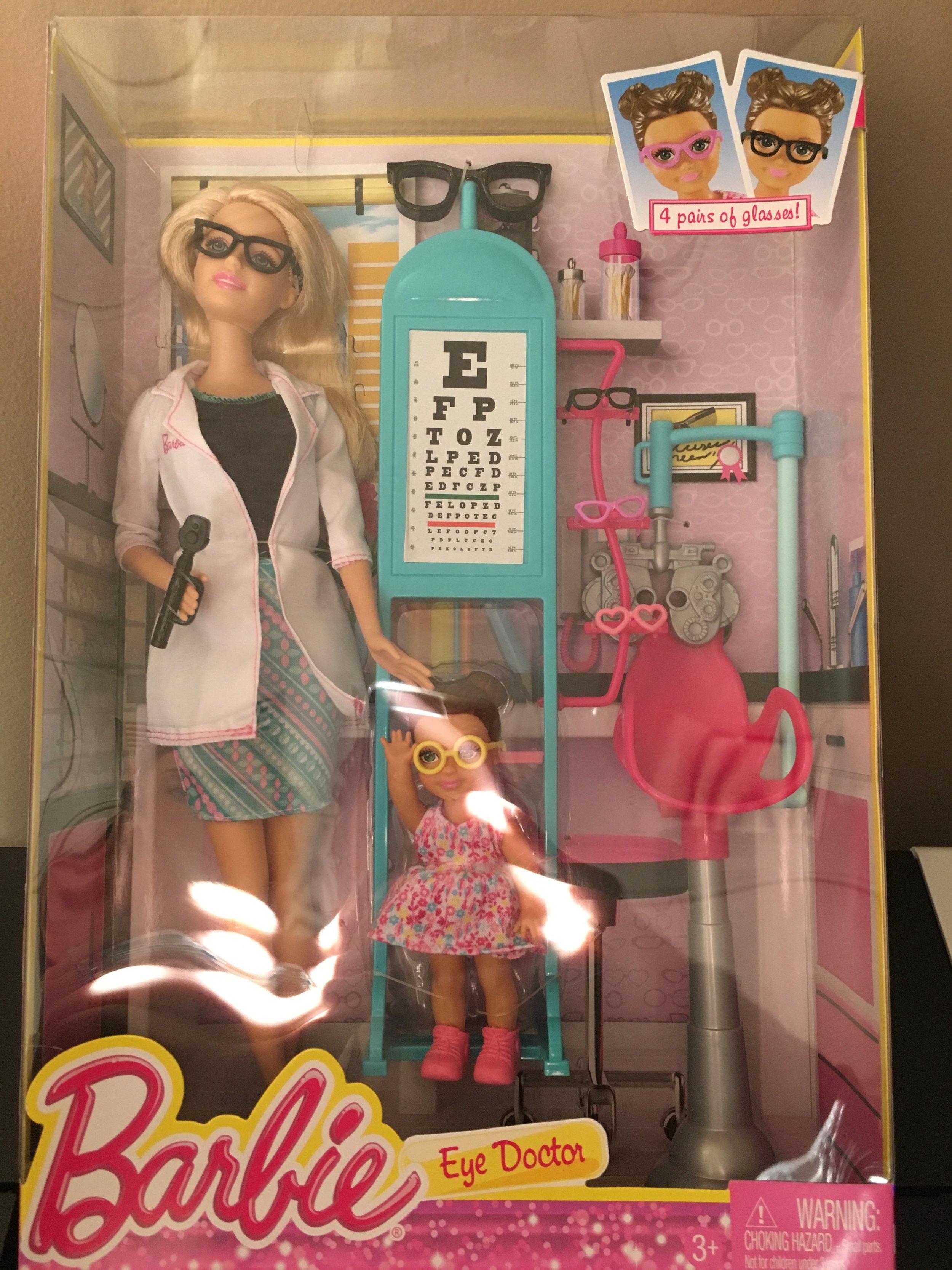 Need I say more? Barbie Eye Doctor!