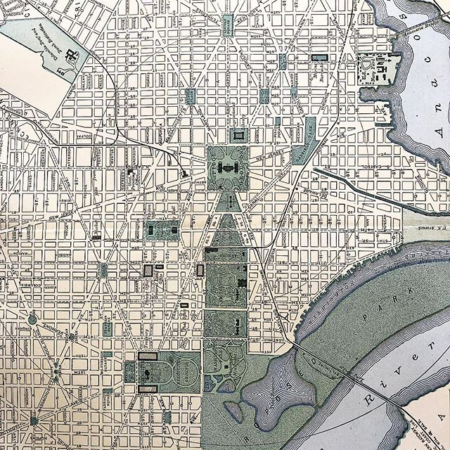 """""""Injustice anywhere is a threat to justice everywhere."""" #mlk  #washingtondc  #dc  Map:  Washington D.C. -1897"""
