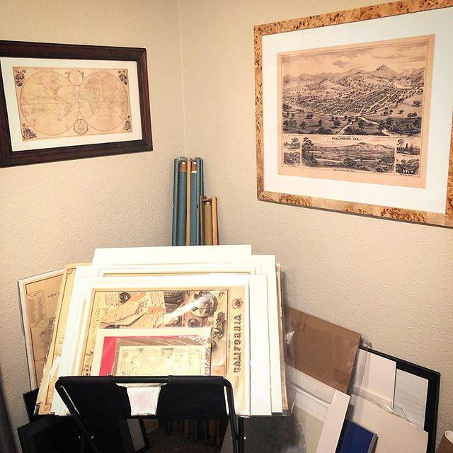 The lab. . . .  #vitalimaps  #historyunfolded  #roomcommanding #archivalprints #oldmaps  #mapprints  #mapart #cartography  #antiquemaps  #antiqueart #handmade #vintageart #coolart  #coolmaps  #collection #collectors #mapcollector  #interiordesign #badassmaps  #instamaps  #raremaps  #mapmakers  #history  #travel #vintagemaps