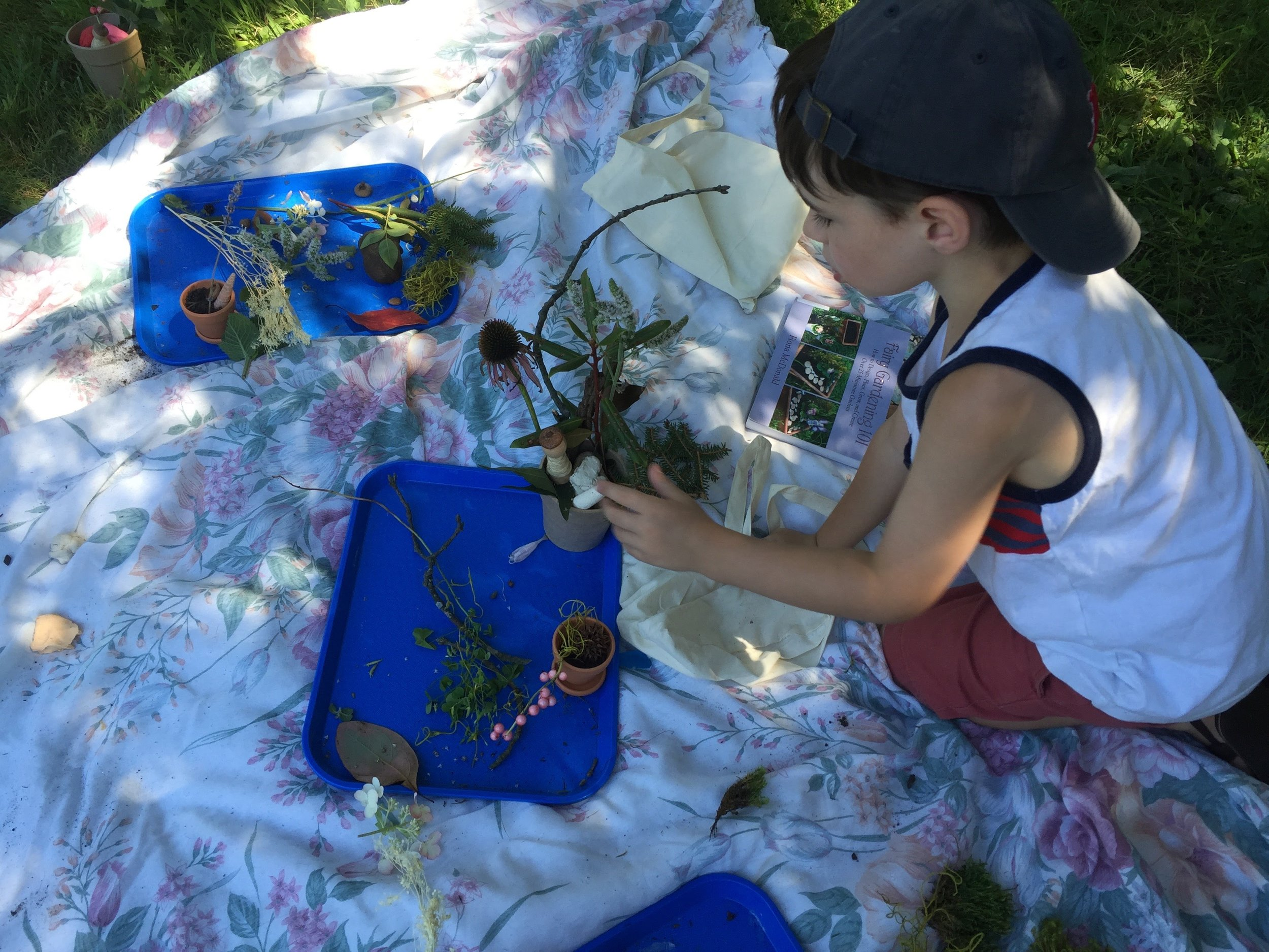 Making fairy gardens