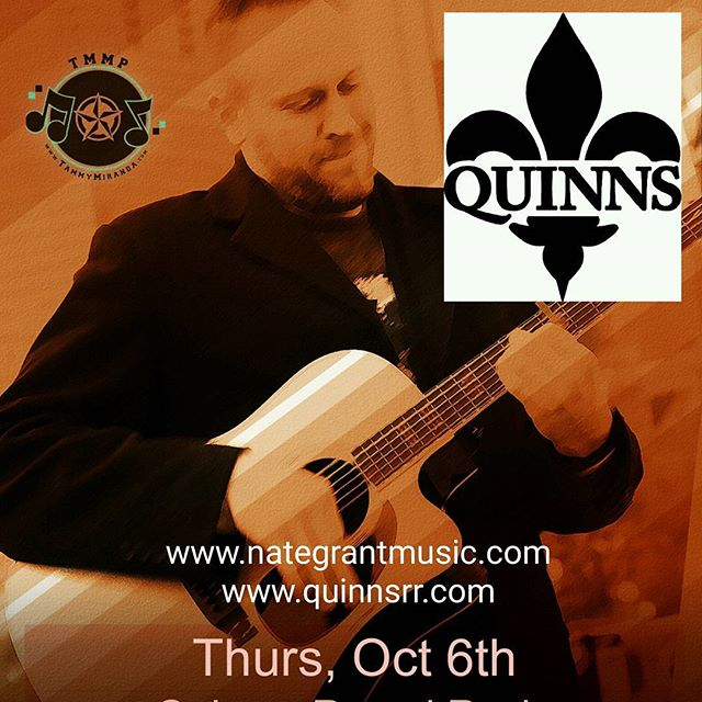 I'll be kicking off next week with a solo performance at Quinns, Round Rock. 8pm! #nategrantmusic #independentartist #martinguitar #tmmp #quinns #roundrock www.nategrantmusic.com