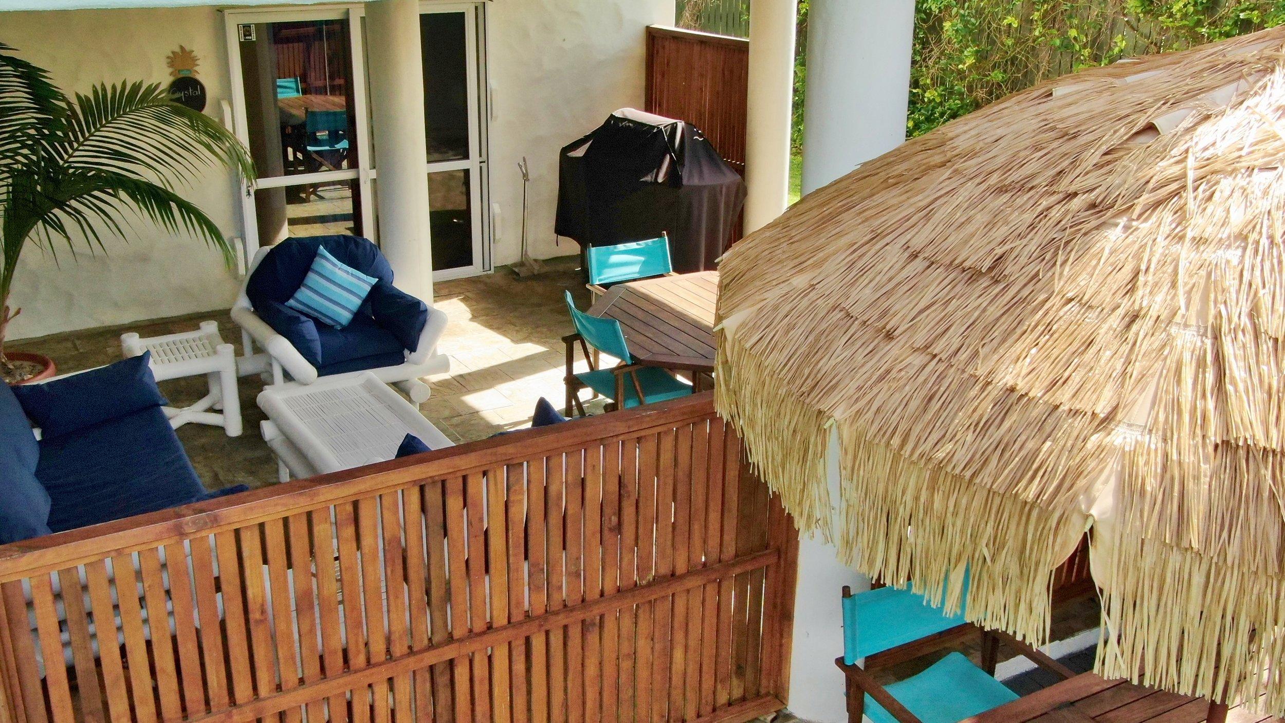 Pool room terrace area