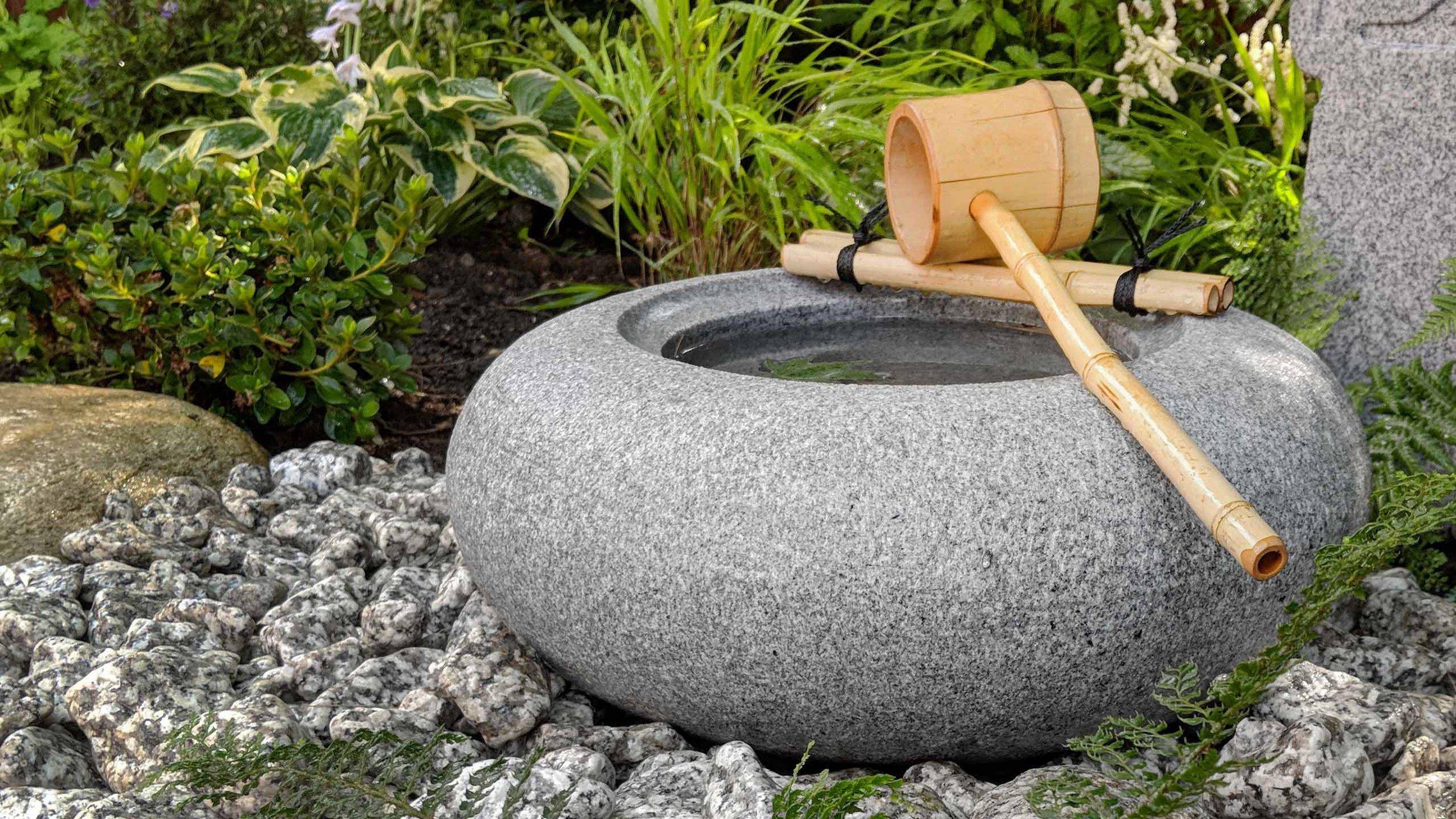 Cheshire Garden Design: Japanese garden with Tetsu Bachi Basin