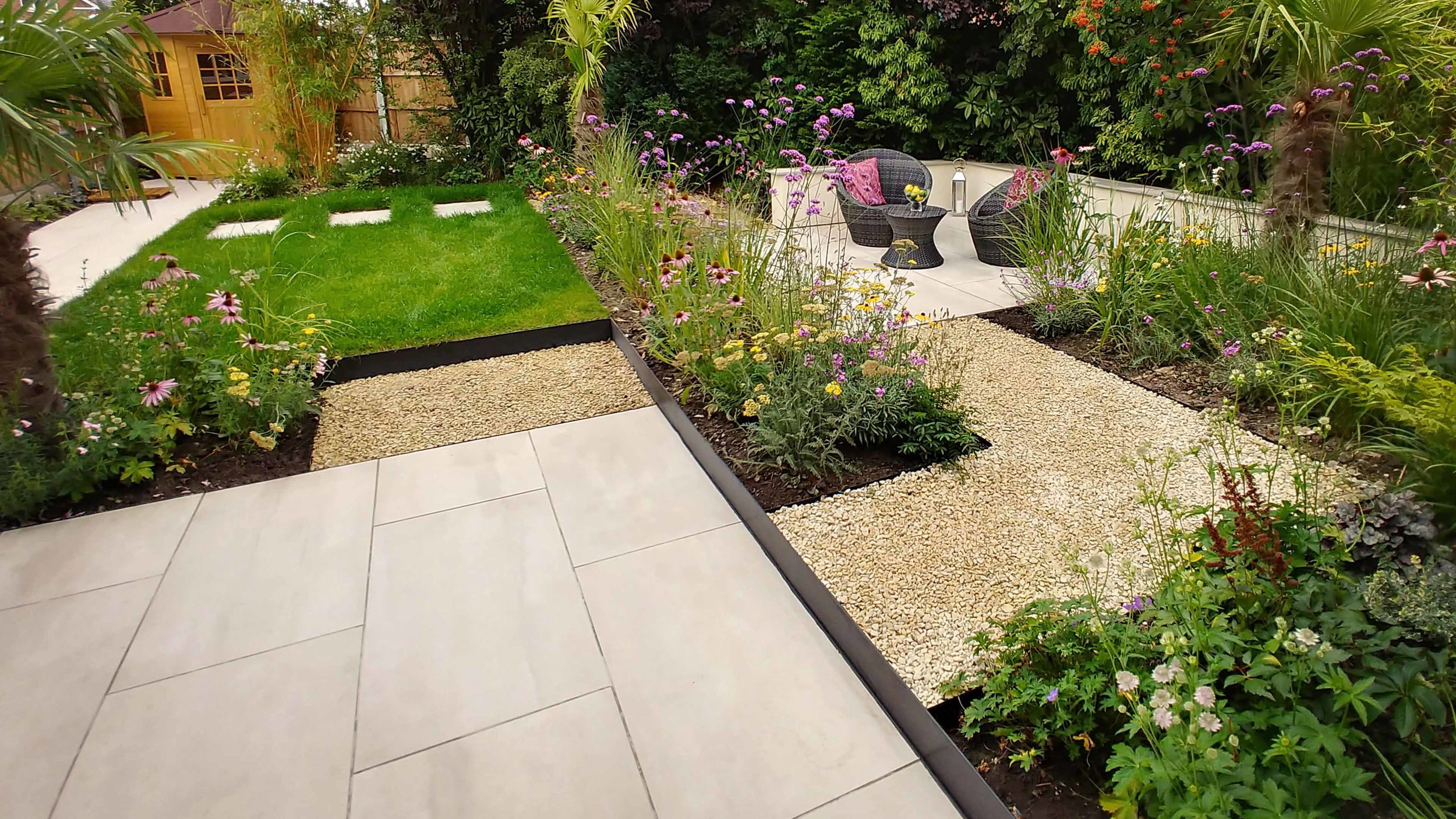 Garden Design Cheshire: Prairie Planting And Porcelain Patio: