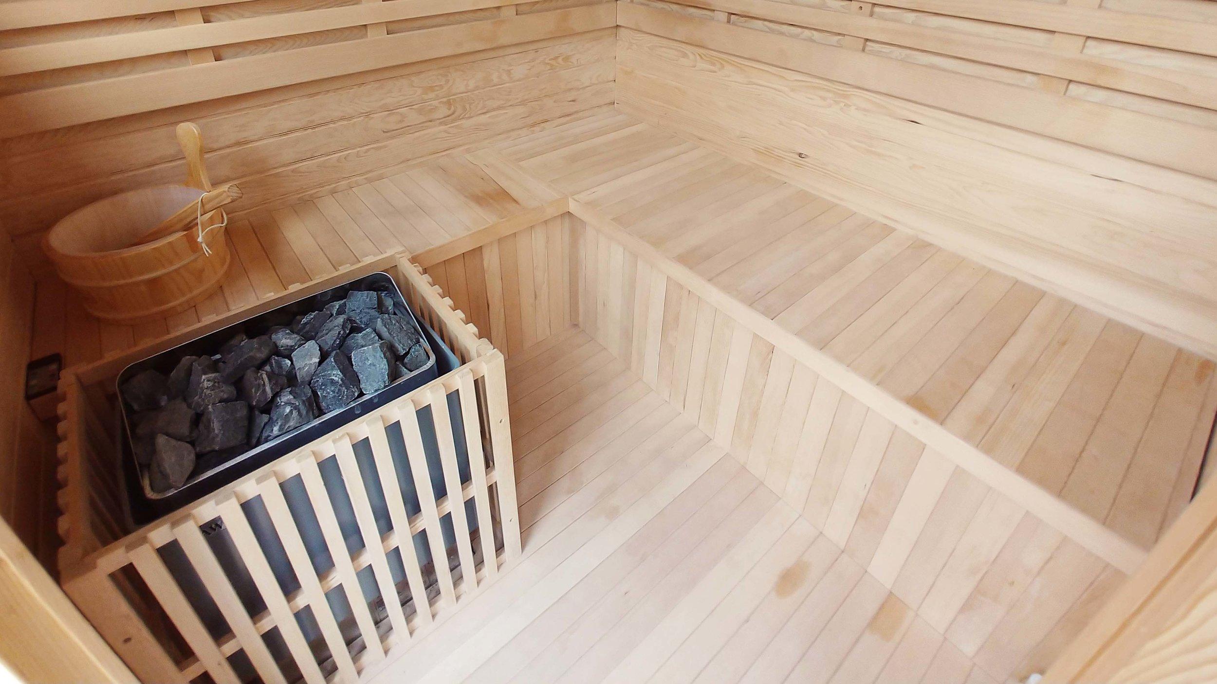 Garden Design Cheshire: Prairie Planting And Porcelain Patio: Sauna