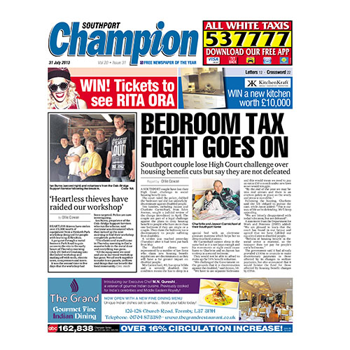 The Southport Champion News: 31st July 2013