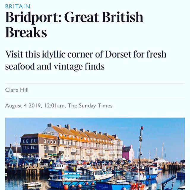 Featured in @sundaytimestravel where to stay section 'Bridport: Great British Breaks #littleboutiqueclub #hivebeachcafe