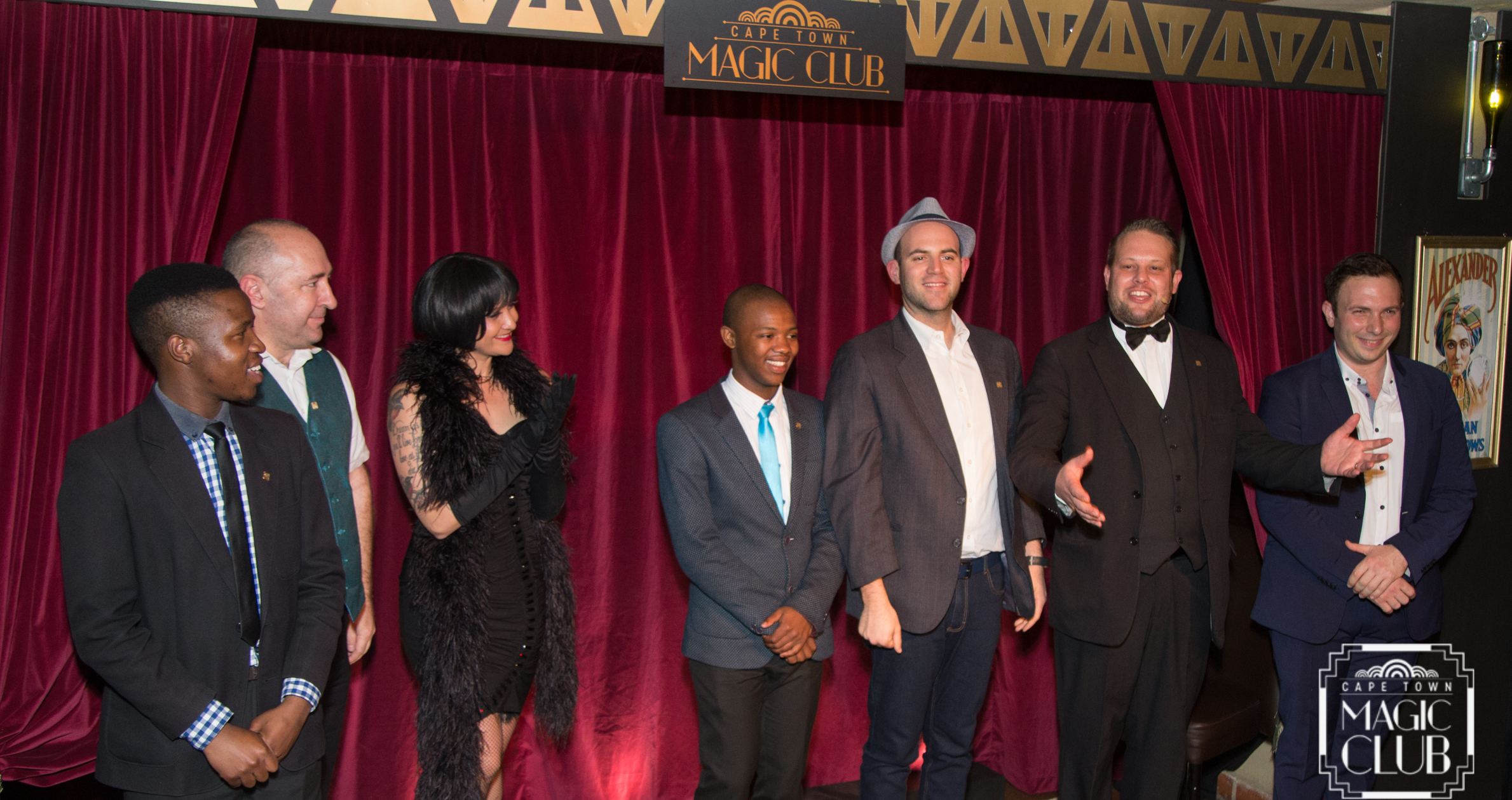[L→R] Asiphe Mnqika, Glendini, Bon Bon, Anele Dyasi, Greg Gelb, Marcel Oudejans (Founder & Executive Producer) & Larry Soffer. [Photo credit: Andrew Gorman]