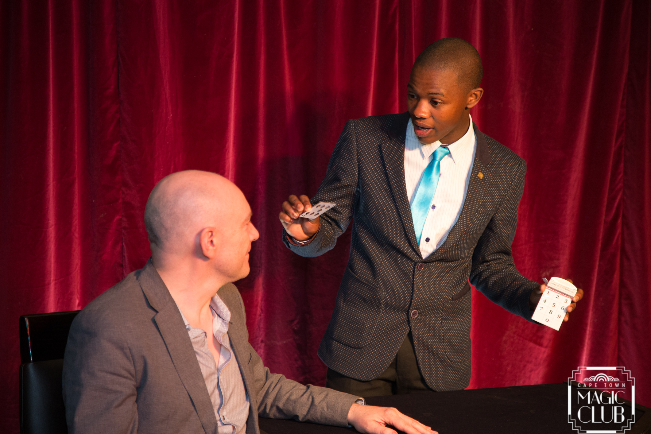Junior Magic Champion, Anele Dyasi, will mystify you with thrilling sleight-of-hand. [Photo credit: Andrew Gorman]