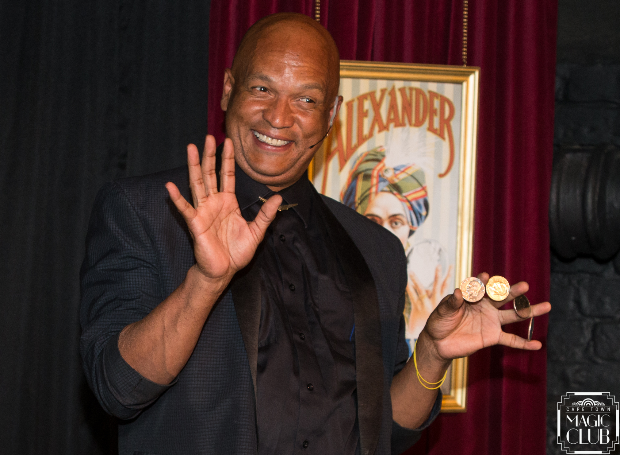 "Magic Man returns from touring Canada & Europe to perform in the upcoming 7th season of Cape Town Magic Club's ""Monday Night Magic"" show. [Photo credit: Andrew Gorman]"