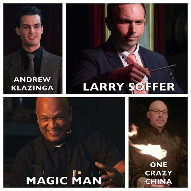Get ready for the best in magical entertainment at #MondayNightMagic at @ArtscapeTheatre @LarrySoffer @andrew.eland.MagicMan @AndrewKlazinga & @OneCraz China! Tickets are still available for our 9pm show at www.qkt.io/mnm-12nov2018 from R170pp⠀ ⠀ #capetown #theatre #performingarts #shows #entertainment #magic #magicians #mentalism #mentalists #whatsonincapetown #eventsincapetown #lovecapetown #southafrica