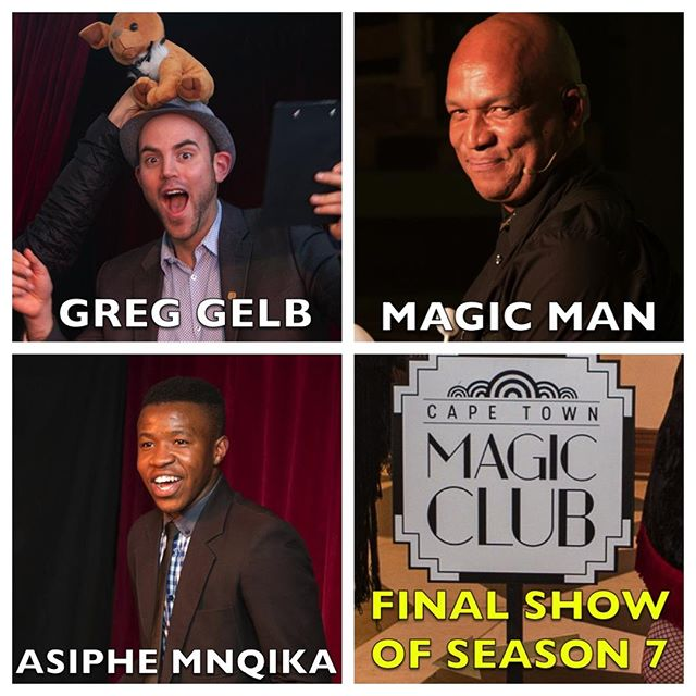 Only a handful of tickets remain for our FINAL #MondayNightMagic show of Season 7 at @ArtscapeTheatre. Featuring the talented young Asiphe Mnqika, international Master of sleight-of-hand Magic Man, and is hosted by the hilarious Comedy Magic of Greg Gelb, Magician. Tickets are available at http://www.qkt.io/mnm-26nov2018
