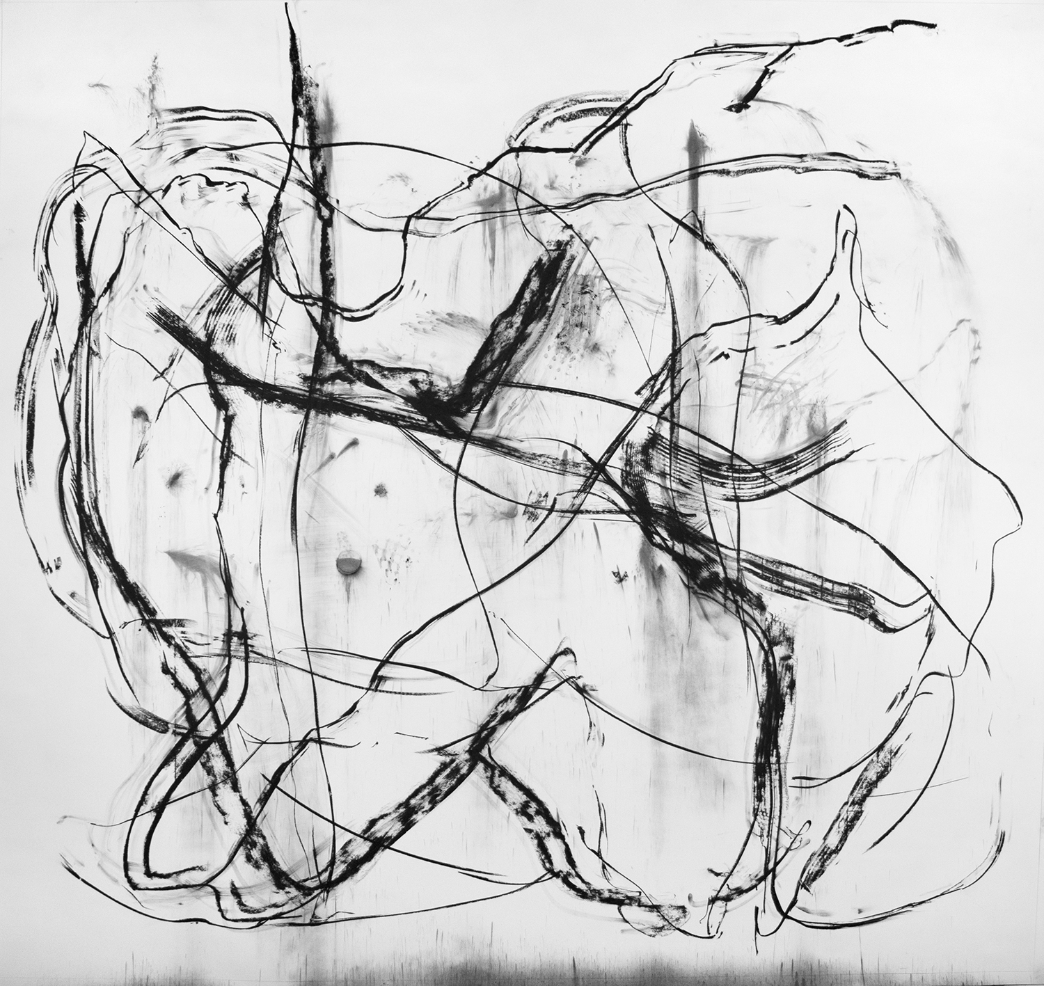 Untitled, 2016, Charcoal on paper, 120 x 153 in.