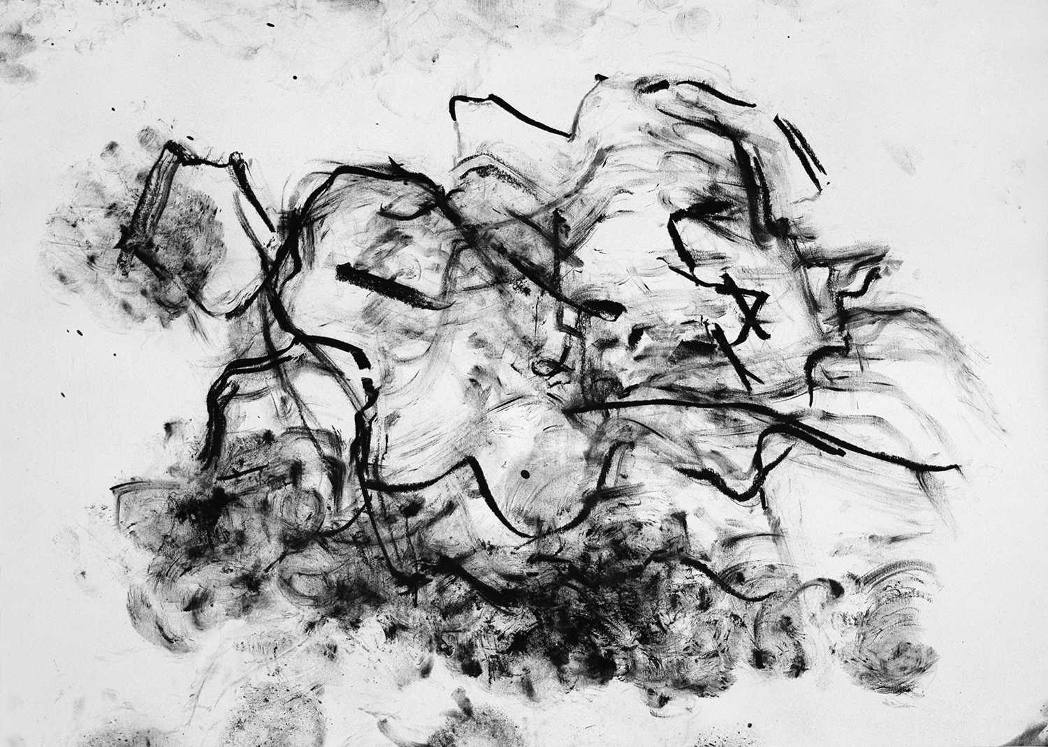 Untitled, 2016, Charcoal on paper, 18 x 24 in.