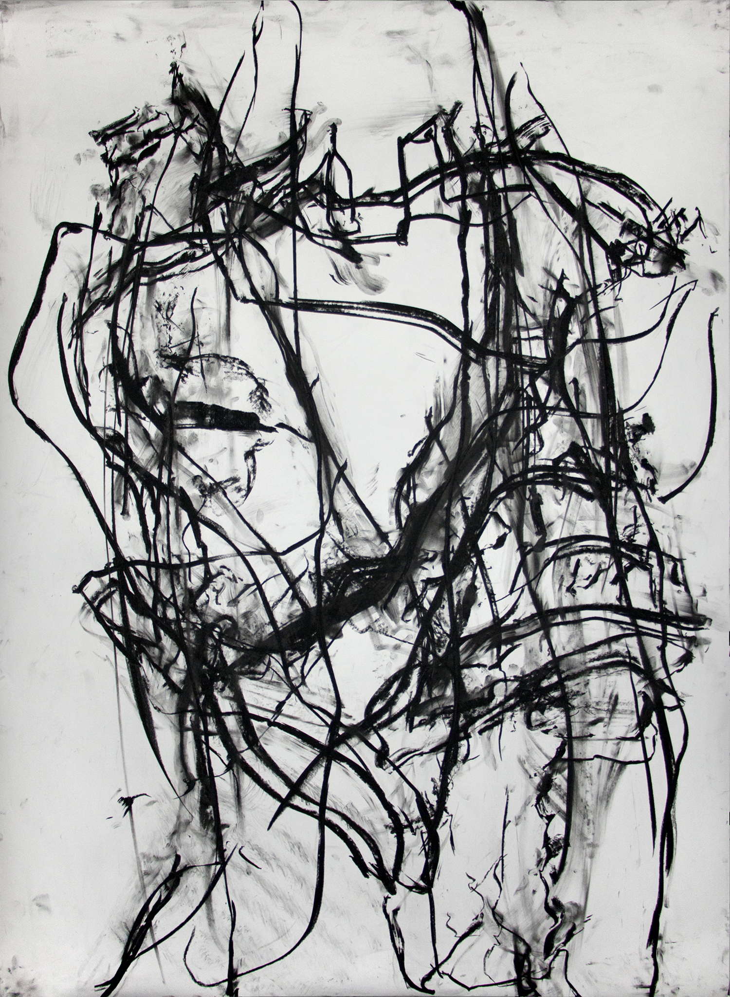 Untitled, 2016, Charcoal on paper, 72 x 53 in.
