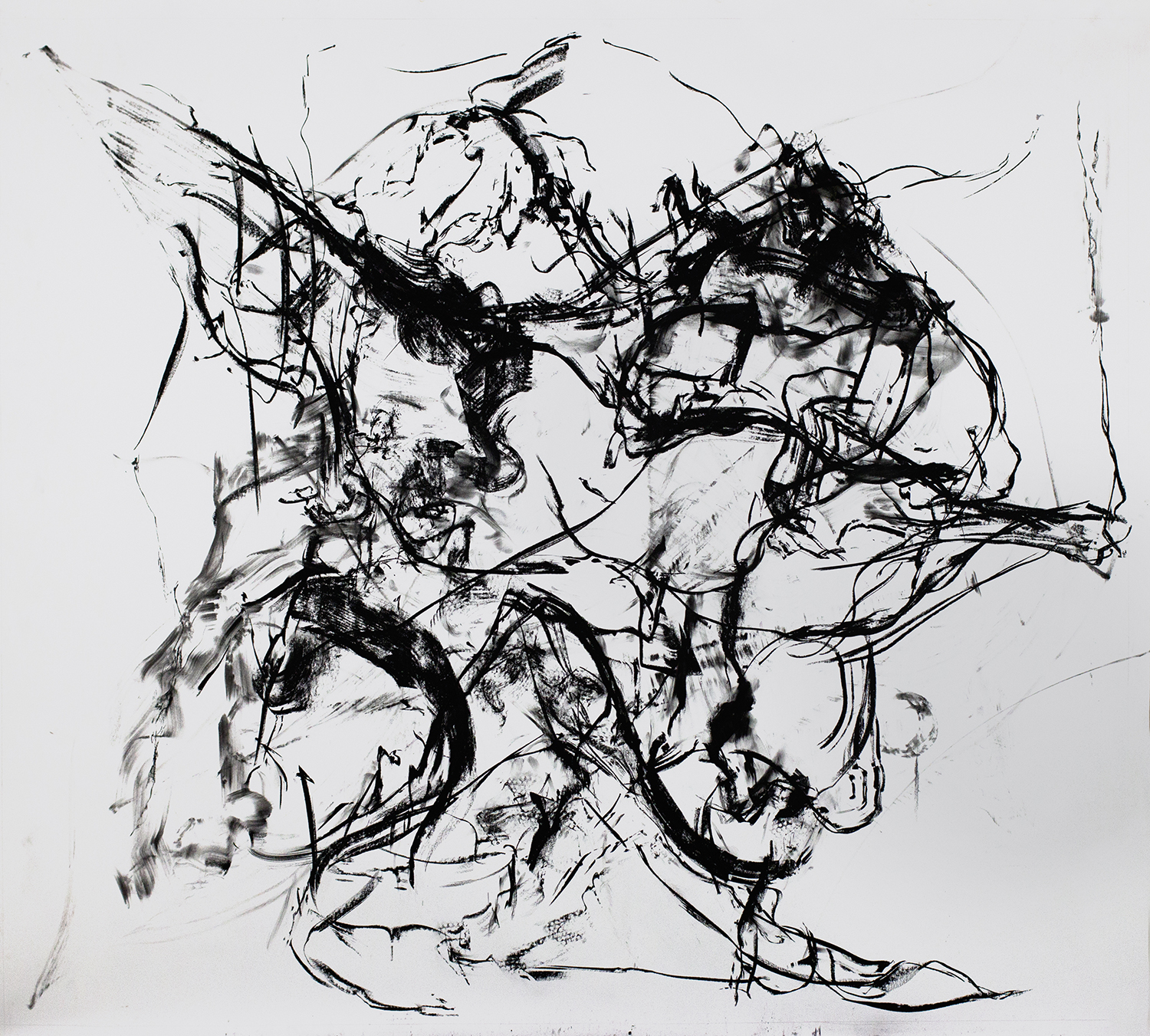 Untitled, 2016, Charcoal on paper, 96 x 120 in.
