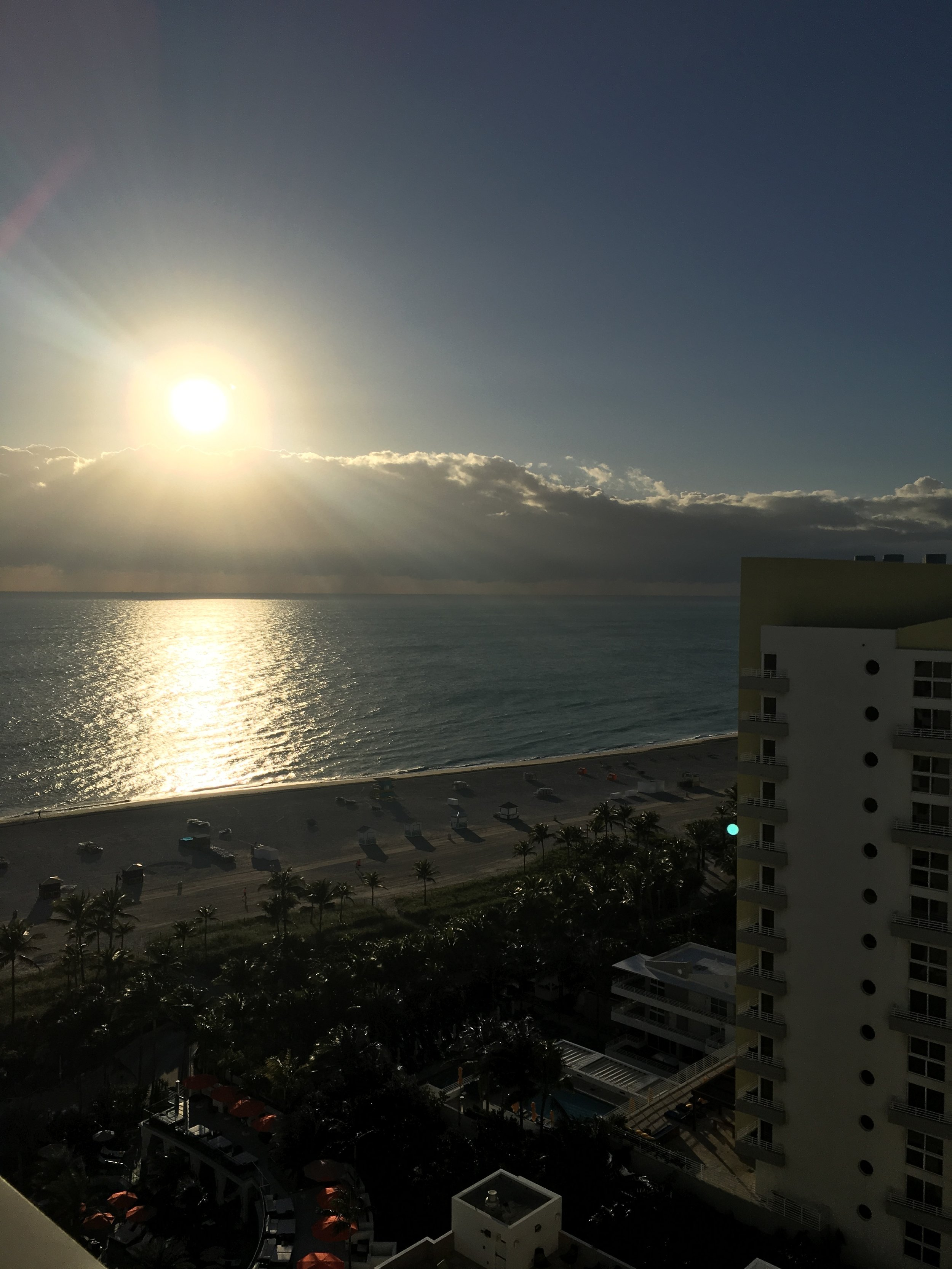 sunrise from our hotel room