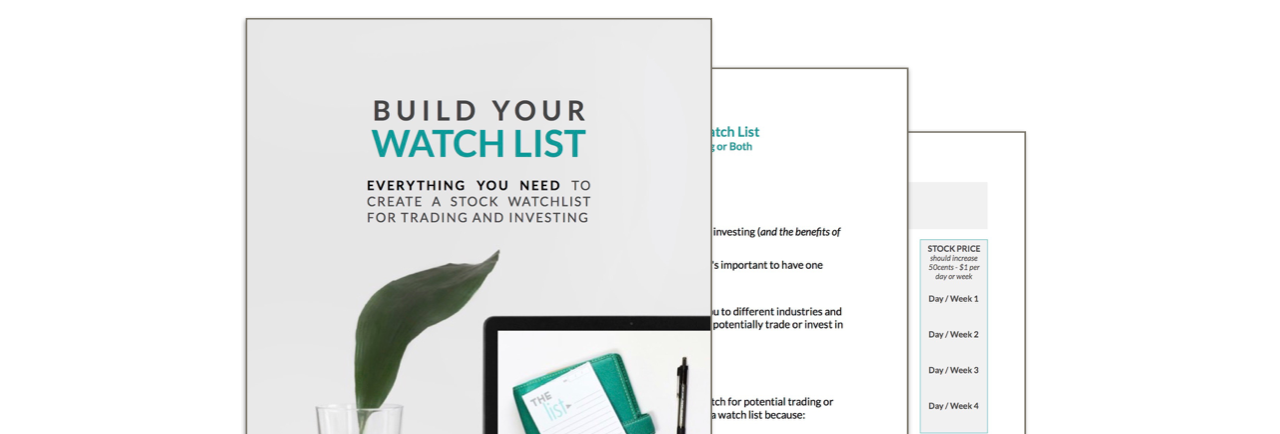 Build Your Watch List Workbook Preview