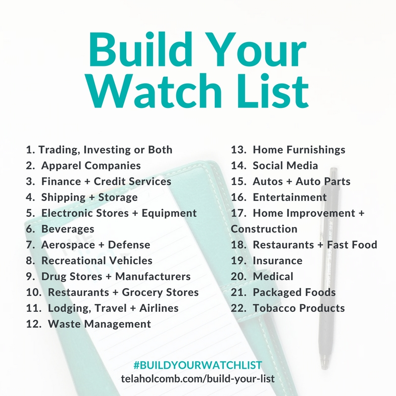 Build Your Watch List calendar