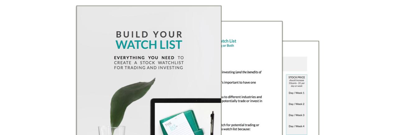 Build Your Watch List workbook