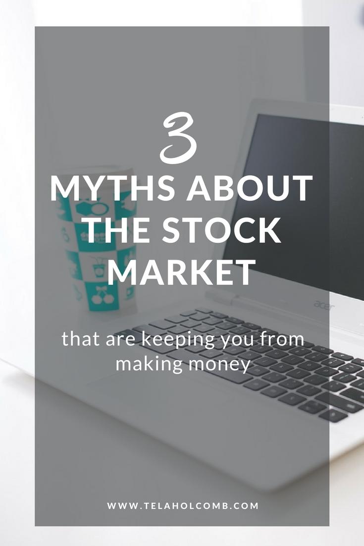 3 myths stock market Tela Holcomb