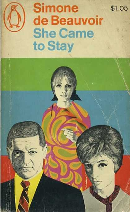 Francoise and Xavier from She Came to Stay by Simone de Beauvoir - It's a thinly veiled existential novel about the affair between de Beauvoir, Sartre, and their students Olga and Wanda Kosakiewicz. What's not to love?