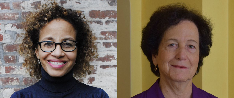 Feminist Press Board Chair Linda Villarosa (L) and Vice President Barbara Rosen (R).