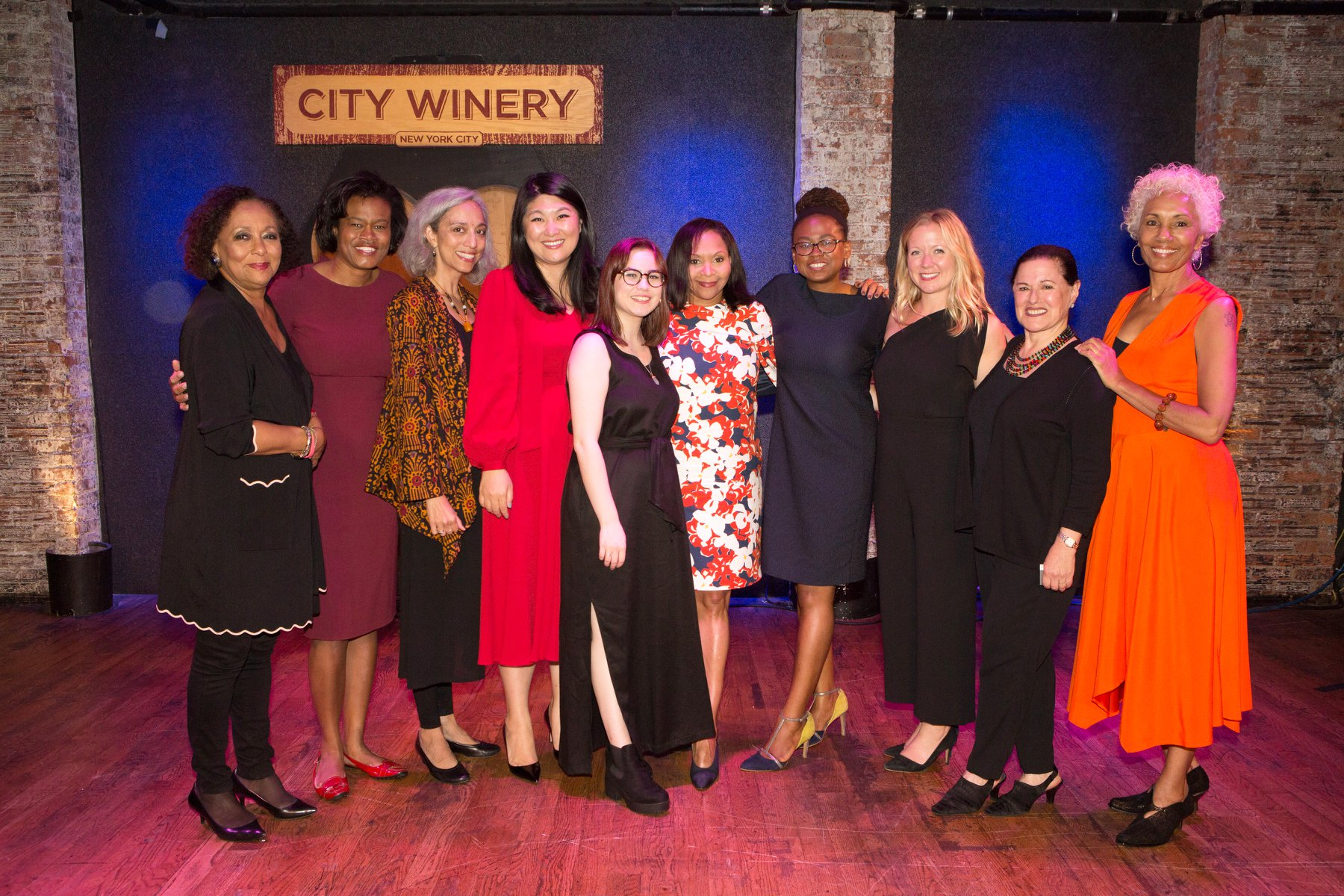 The 2018 Feminist Power Award honorees, presenters, and Gala Committee! Photo credit: Alexa Hoyer.