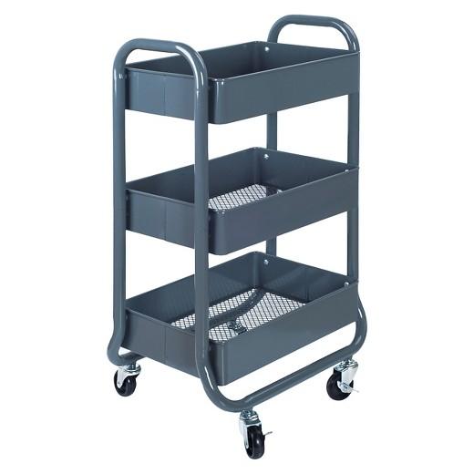 http://www.target.com/p/3tier-rolling-cart-gray-room-essentials-153/-/A-50659926 Target Room Essentials cart $30
