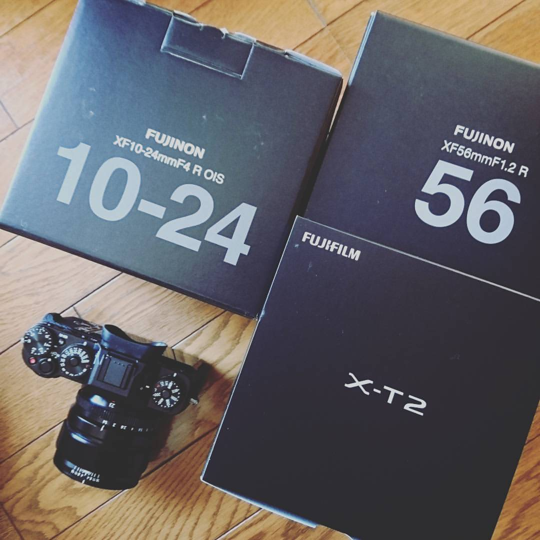 ウェディング撮影用のx-t2と交換レンズ