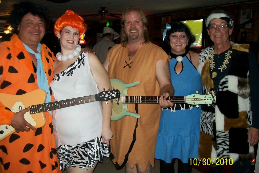 Retro - Halloween gig as The Flintstones / Eugene, OR