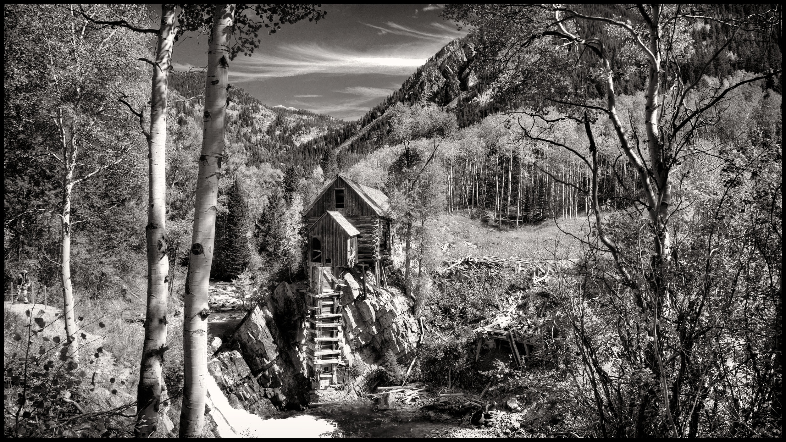 Crystal Mill Between Crystal and Gothic Colorado
