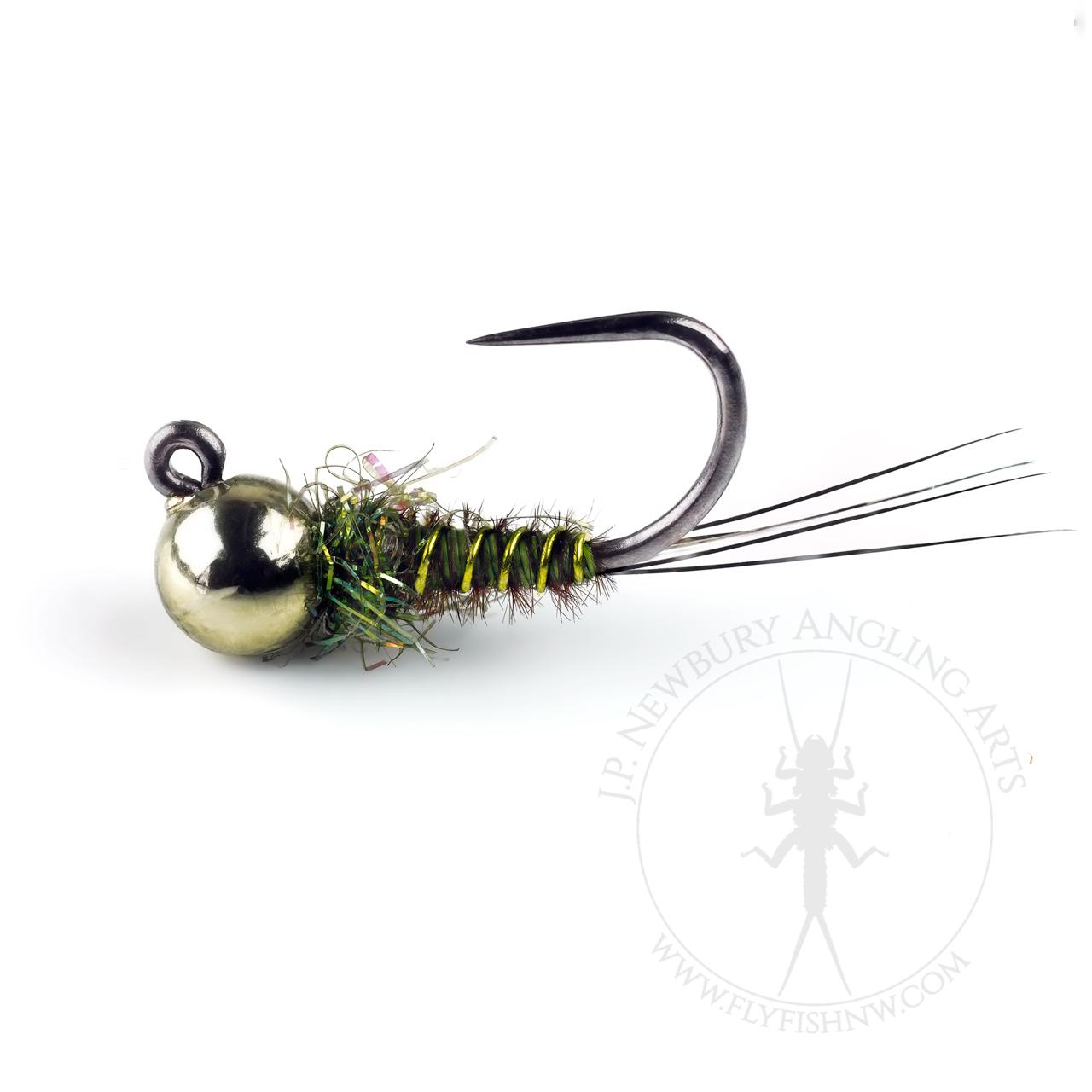 Metallic Olive Pheasant Tail Jig