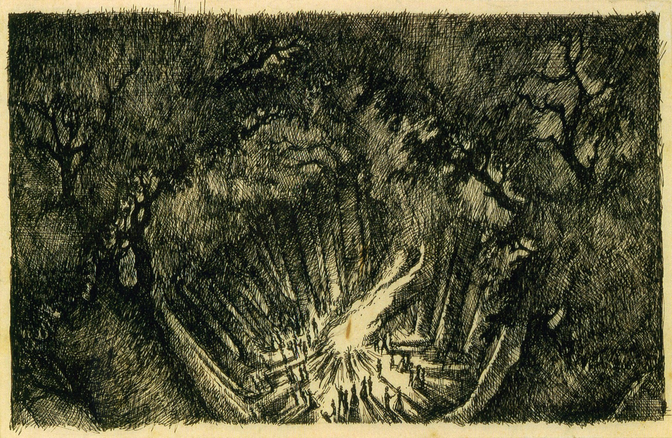 Clive Barker - sketch for The Wood on the Hill