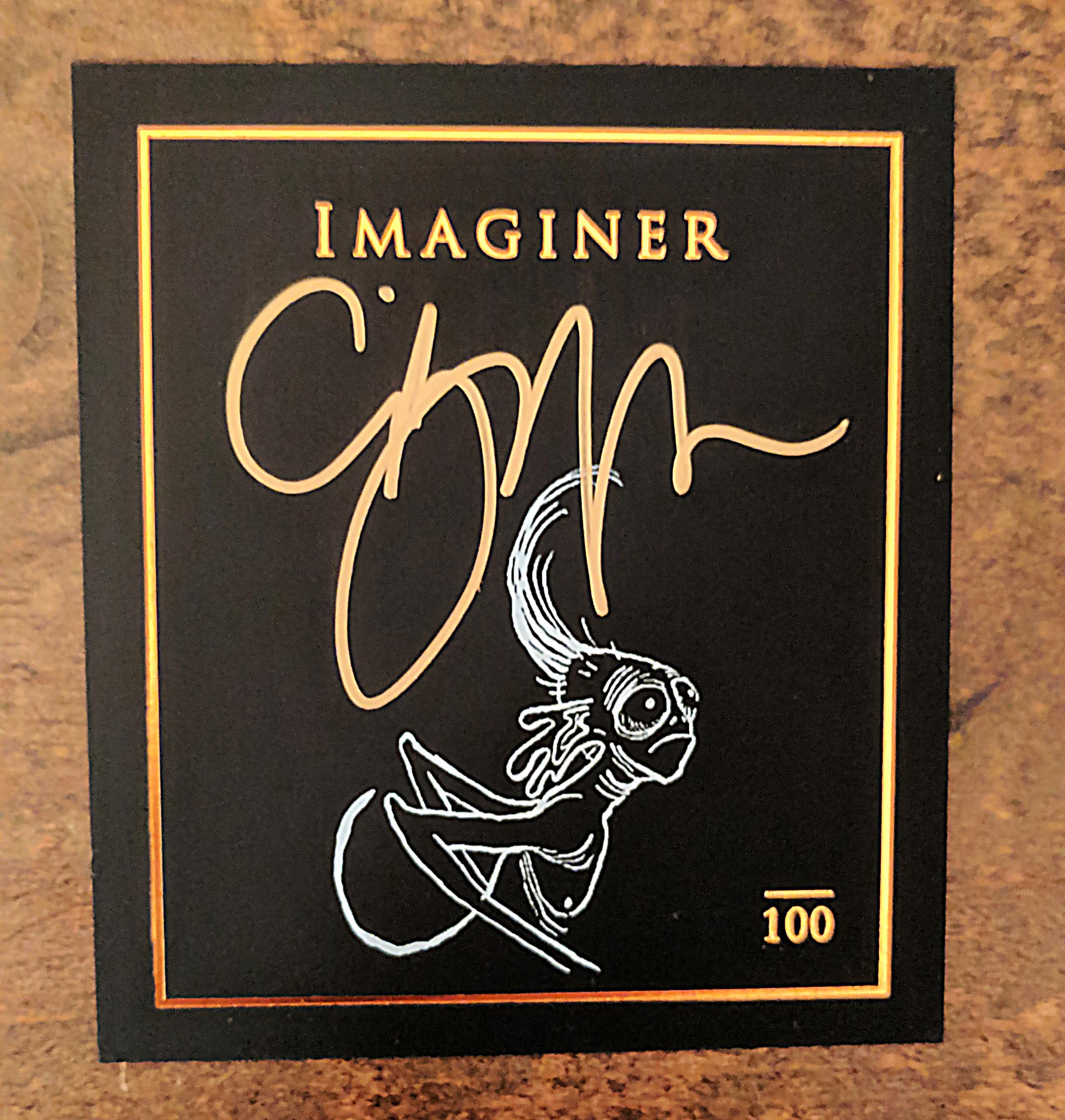 Bookplate for deluxe copies of Imaginer 5, signed by Clive