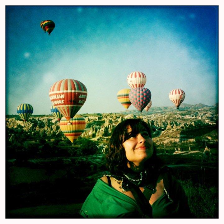 Smiling at sunrise in Cappadocia, Turkey