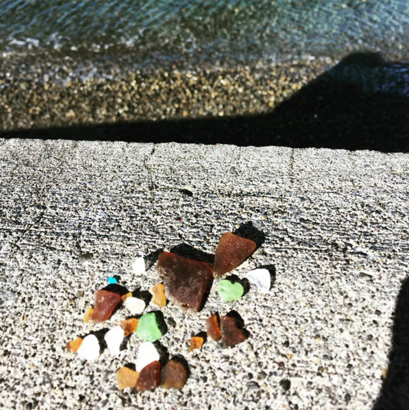Searching for beach glass is good for the soul.