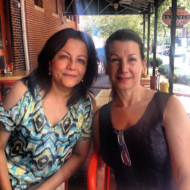 KCAC Dir. Sangeeta Thapa and FPAFA Pres. Maureen Drdak, Washington D.C. 2014