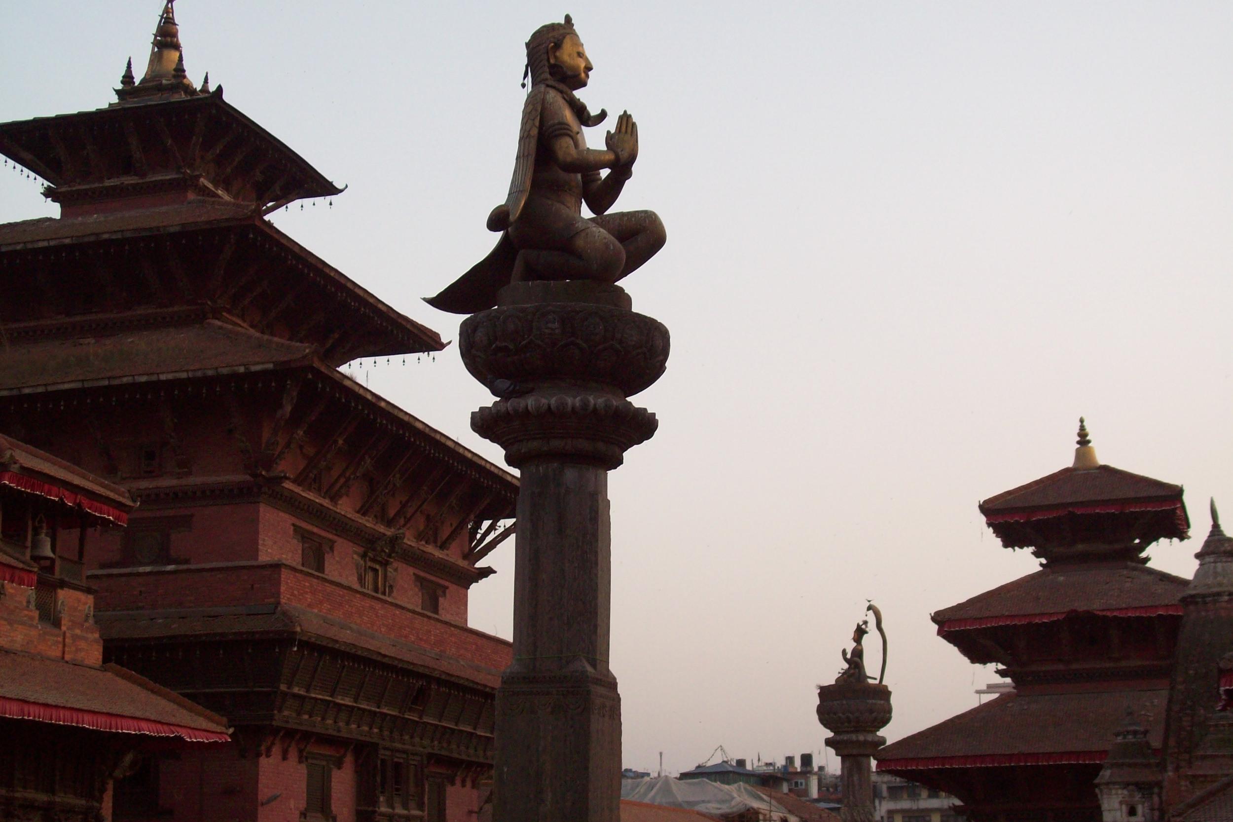 Repoussé Garuda, Patan Durbar Square