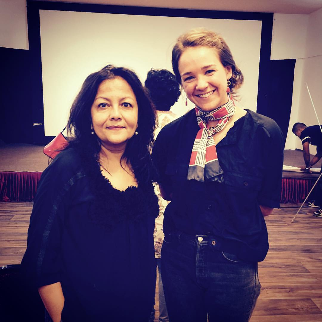 Kathmandu Contemporary Arts Centre  Founder/Director  Sangeeta Rana Thapa  with our 2016 Awardee  Madeline Peckenpaugh!
