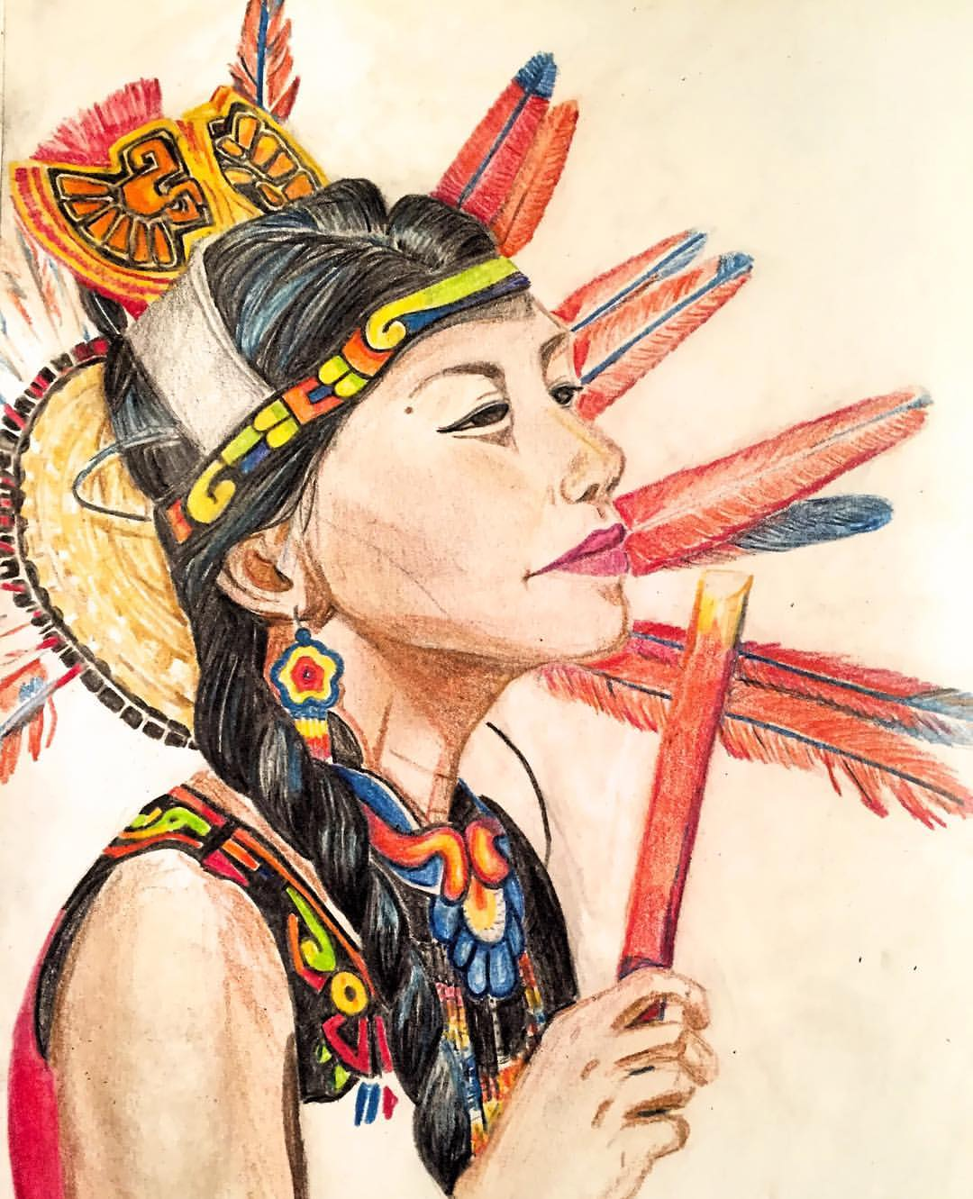 colored pencils in sketchbook, 2016