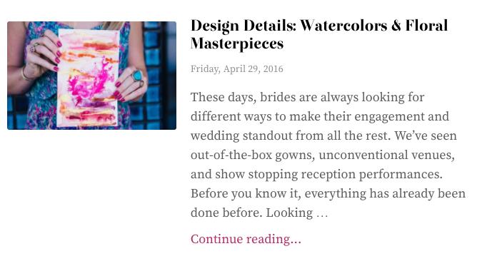 Exquisite Weddings Design Details