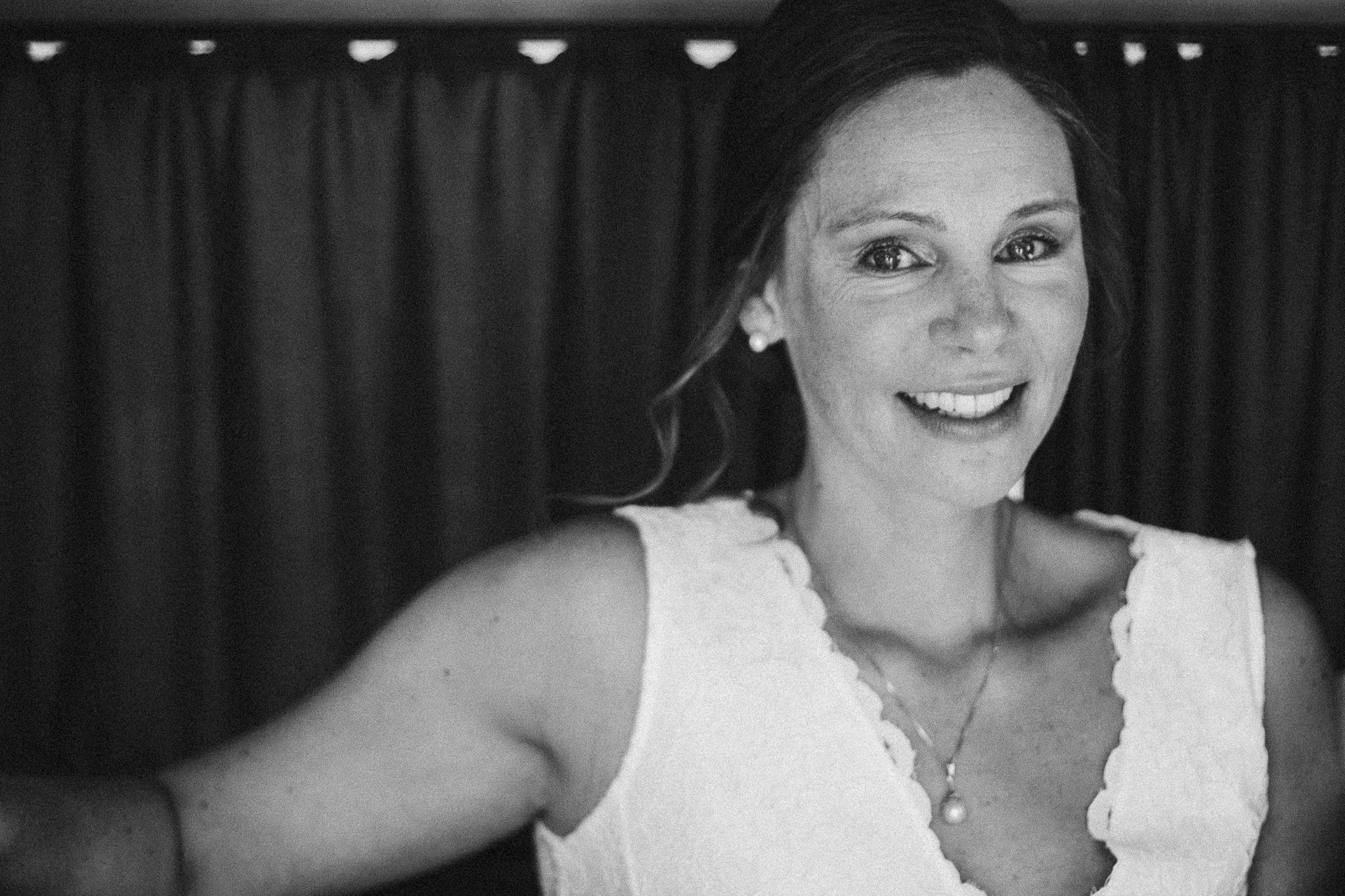 Braut lächelt Portrait