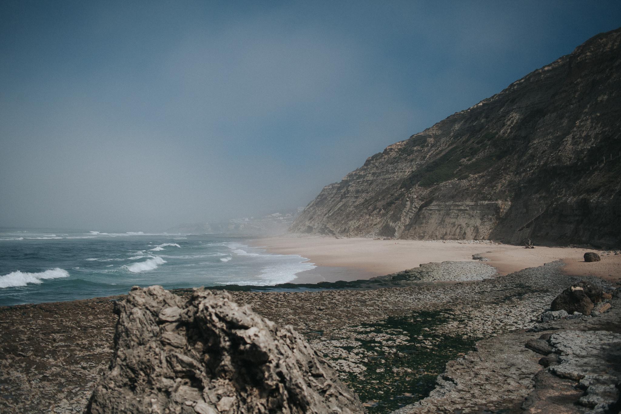 Landscape of Praia da Aguda, Fontanelas