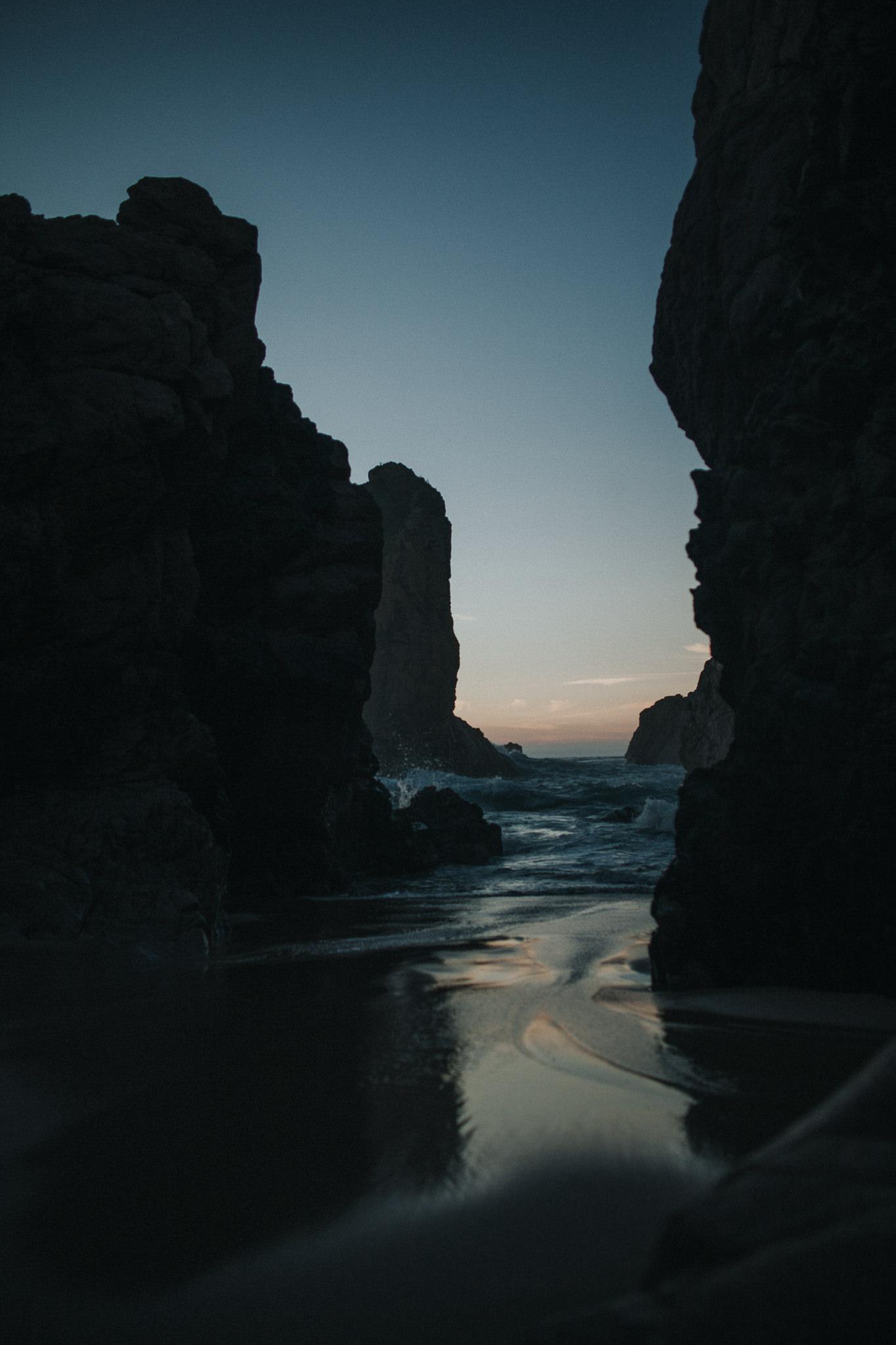 Rocks at Praia da Ursa