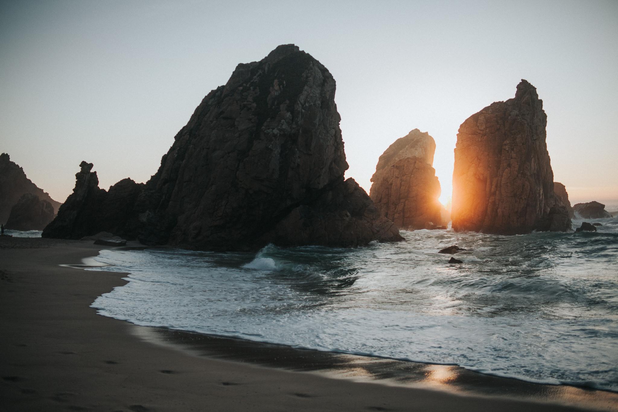Sunset at Praia da Ursa