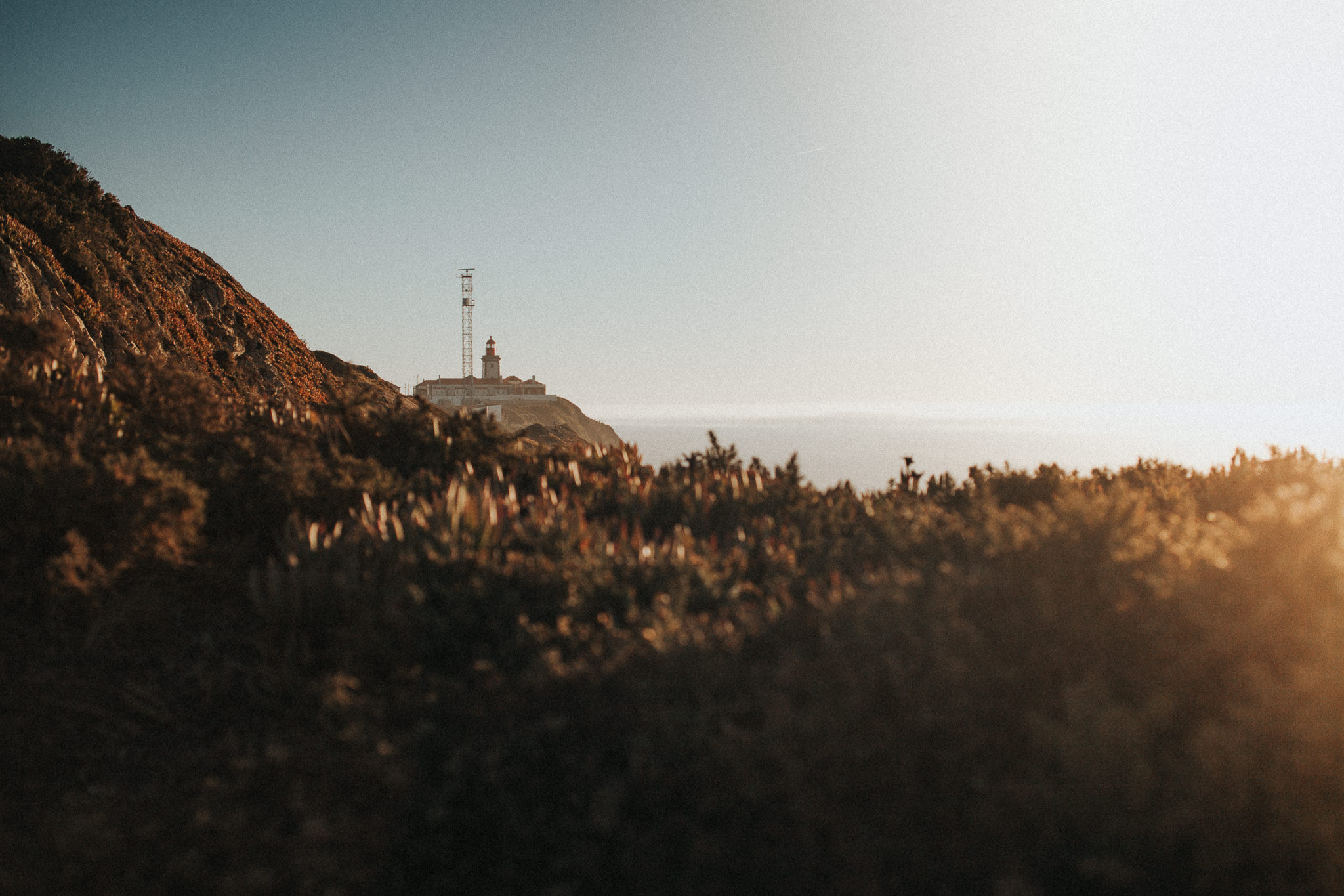Lighthouse of Cabo da Roca during the sunset