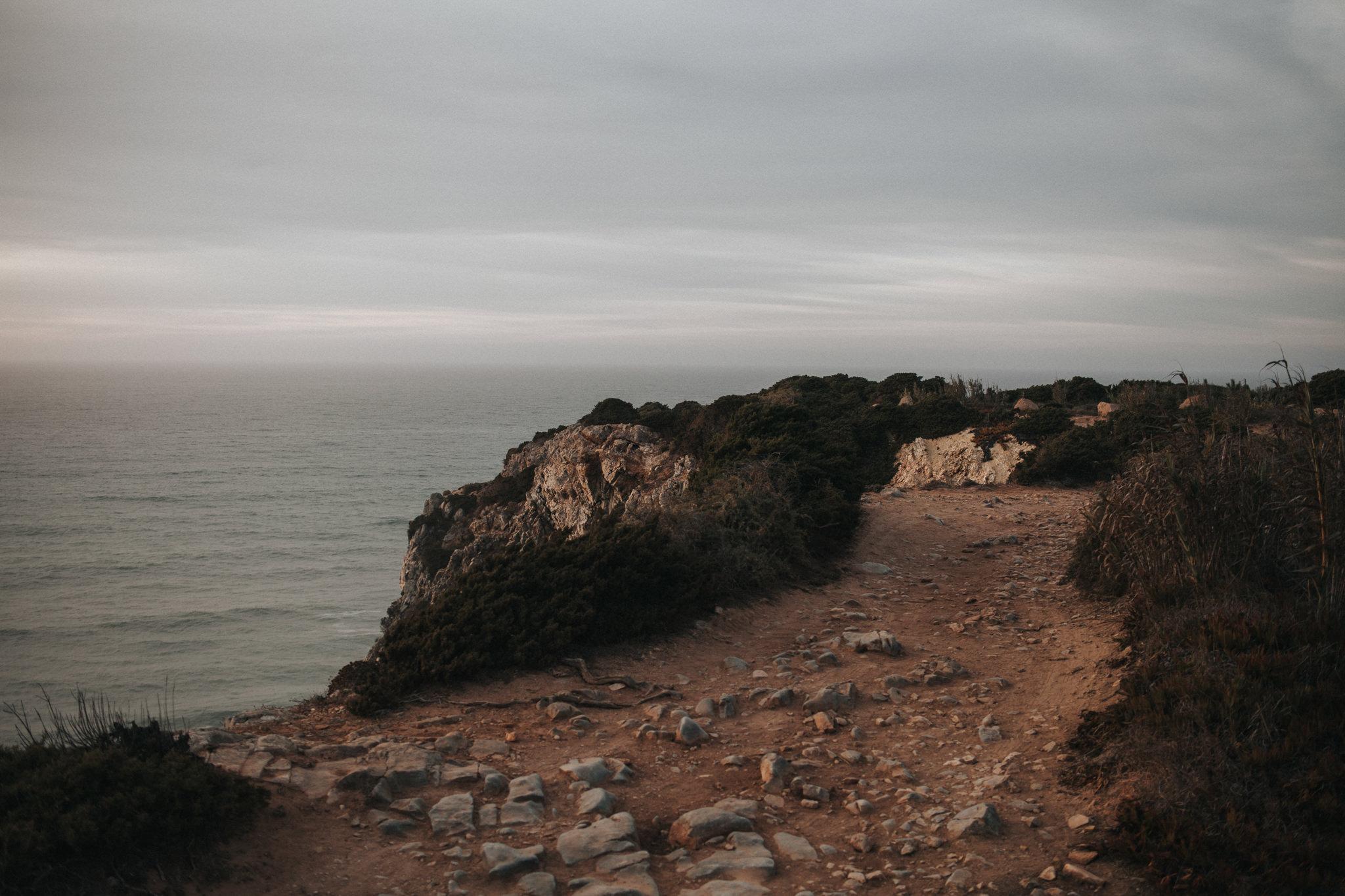 Coast line by sunset