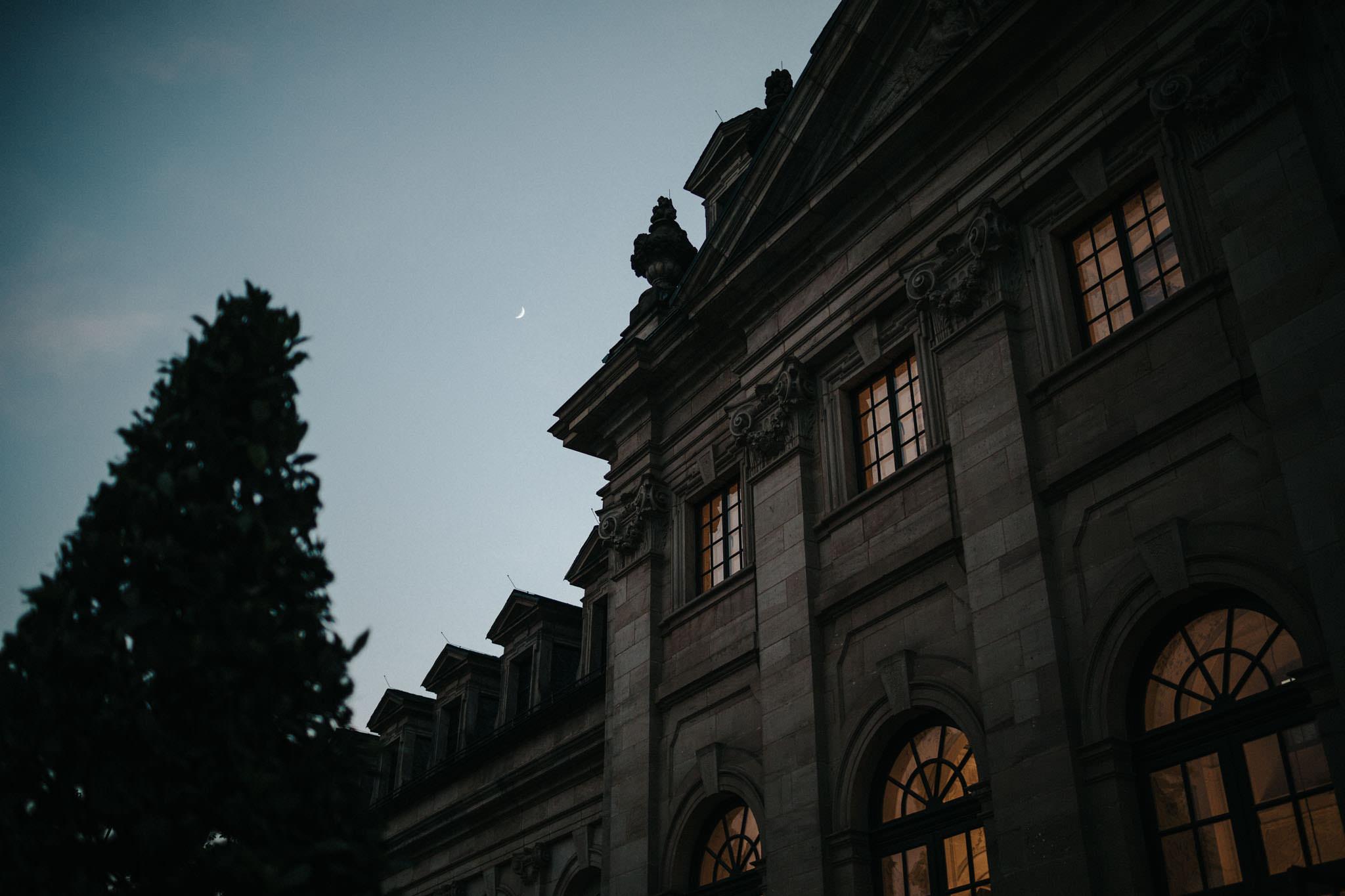 Orangerie Fulda mit Mond
